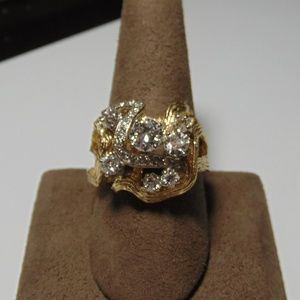 Jewelry - 14K Yellow Gold Fancy Diamond Fashion Ring